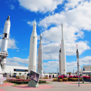 MERRITT ISLAND, FL – FEB 12: Kennedy Space Center Rocket Garden